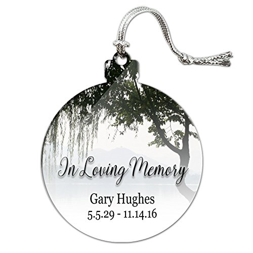 Graphics and More Personalized Custom In Loving Memory Willow Tree Memorial Acrylic Christmas Tree Holiday Ornament