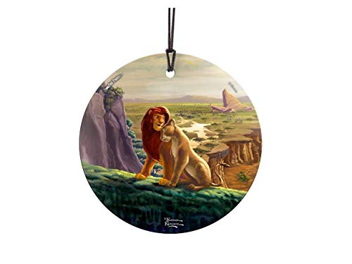 Trend Setters Disney – The Lion King – Return to Pride Rock – Simba and Nala – Starfire Prints Hanging Glass – Suncatcher Hanging Glass Collectible
