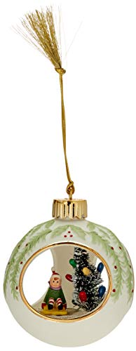 Lenox Lit Elf Scene Ornament
