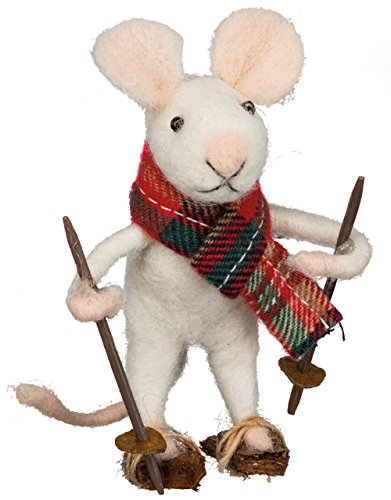 Winter Snowshoe 3″ Mouse Shelf Ornament Primitives by Kathy