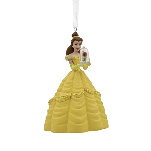 Hallmark Christmas Ornaments, Disney Belle With Enchanted Rose Ornament