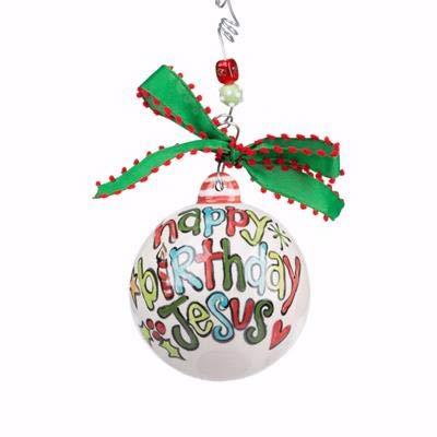 Glory Haus Ornament-Happy Birthday Jesus w/Present