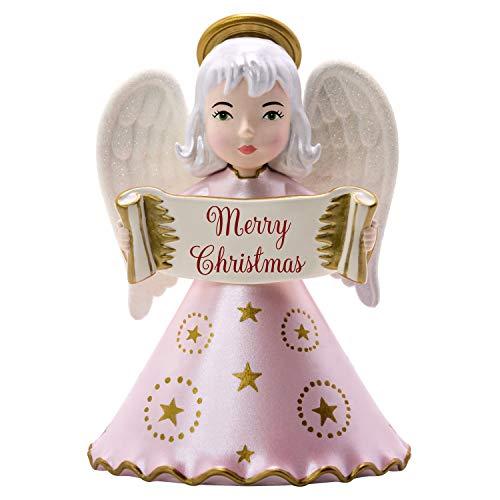 Hallmark Keepsake Ornament 2019 Year Dated Heirloom Angels Merry Christmas,