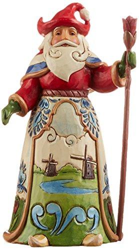 Jim Shore Heartwood Creek Dutch Santa Stone Resin Figurine, 7″