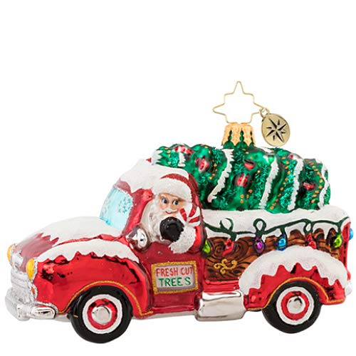 Christopher Radko Tree Delivery Christmas Ornament, Red, Green