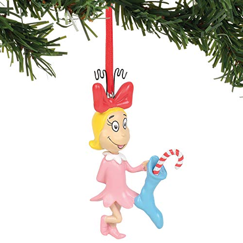 Department 56 The The Grinch Cindy Lou Who Hanging Ornament, 3.5″, Multicolor