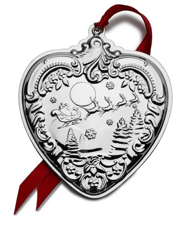 Wallace 2019 Grande Baroque Heart-28th Edition Holiday Ornament, Metal
