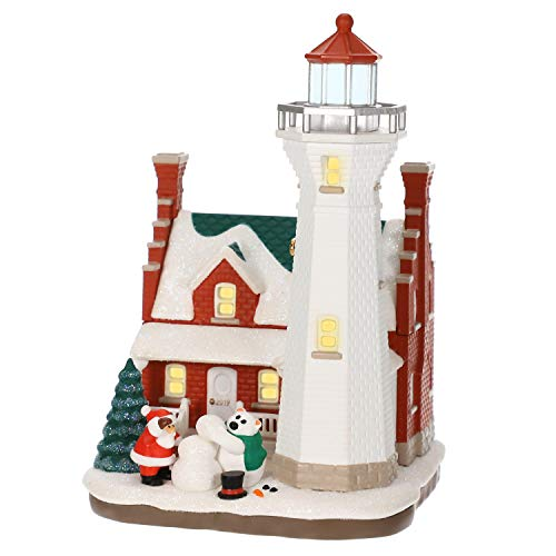 Hallmark Keepsake Christmas Ornament 2019 Year Dated Holiday Lighthouse with Light,