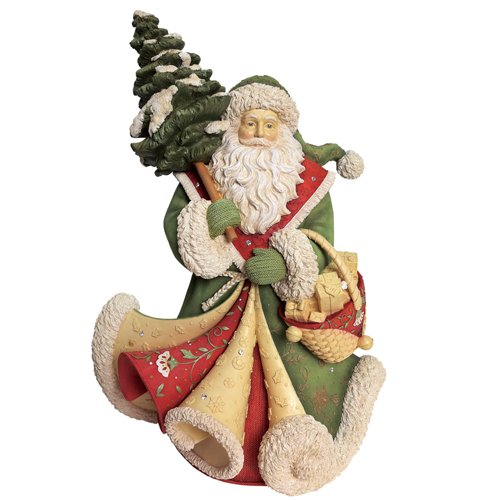 "Enesco Heart of Christmas"" Bringing Home Christmas"" Masterpiece Santa Figurine, 16.5″, Multicolor"