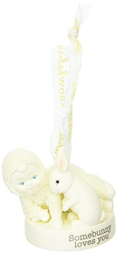 "Department 56 Snowbabies ""Somebunny Loves You"" Porcelain Ornament, 2.01″"