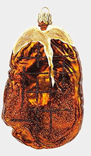 Pinnacle Peak Trading Company T-Bone Steak Food Polish Mouth Blown Glass Christmas Ornament