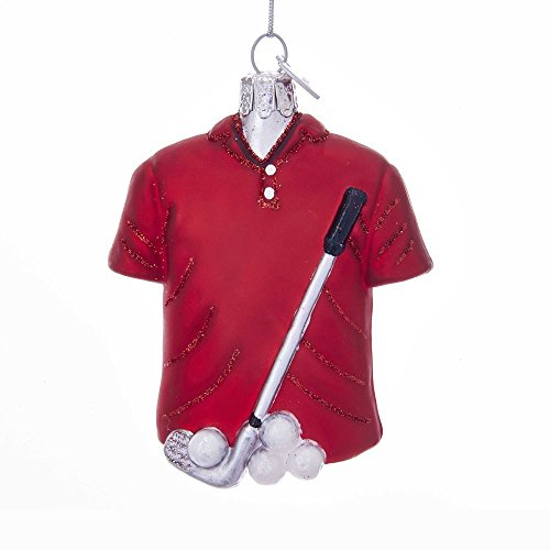 Kurt Adler Noble Gems Golf Outfit Glass Ornament
