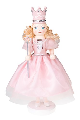 Clever Creations Sugar Plum Fairy Wooden Nutcracker Wearing Pink Dress, Pearl Necklace, Crown | Holding Star Fairy Wand | Festive Decor | Perfect for Shelves & Tables | 100% Wood | 14″ Tall…