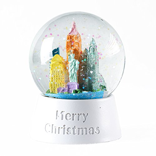 WOBAOS Snow Globes,Illuminated with Lights Water Ball,Snowglobes for Kids,Valentine's Day Birthday and Christmas New Year's Gift (Diameter 65mm)