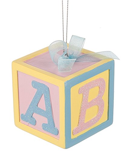 Midwest Baby ABC Block Ornament 2 Inches Square