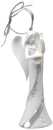 Appletree Design Angel of Song Ornament, 4-Inch Tall, Includes Ribbon for Hanging