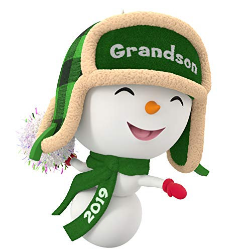 Hallmark Keepsake Christmas Ornament 2019 Year Dated Grandson Snowman,