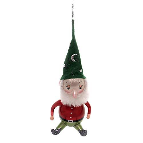 De Carlini ELF Glass Italian Christmas Ornament V3039m