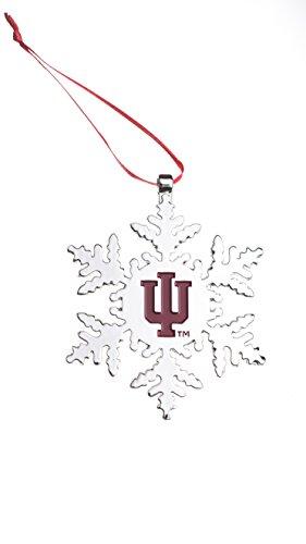Collegiate Pulse Indiana Hoosiers NCAA Snowflake Christmas Ornament