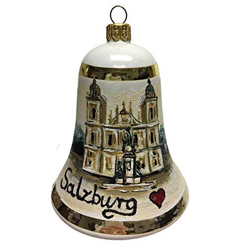 Pinnacle Peak Trading Company I Love Salzburg Bell Polish Glass Christmas Ornament Austria Travel Decoration
