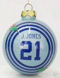Julius Jones Dallas Cowboys Glass Ball Christmas Ornament