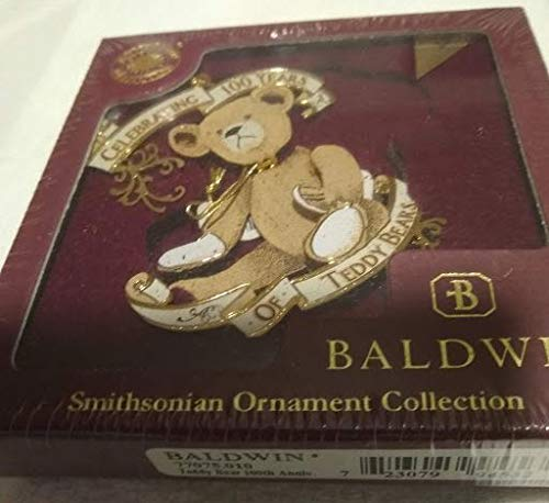 Baldwin Smithsonian Ornament Collection Teddy Bear 100TH Anniversary