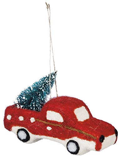 Primitives by Kathy Felt Truck Tree Hanging Ornament