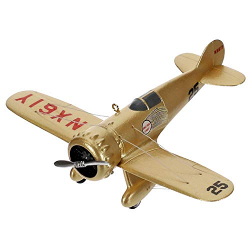 Hallmark Keepsake Christmas Ornament 2019 Year Dated Sky's The Limit Wedell-Williams Model 44 Airplane, 4423