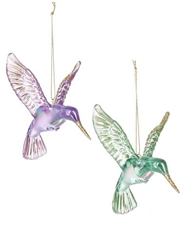 Ganz Set of Two Acrylic Hummingbird Ornaments, EX21867