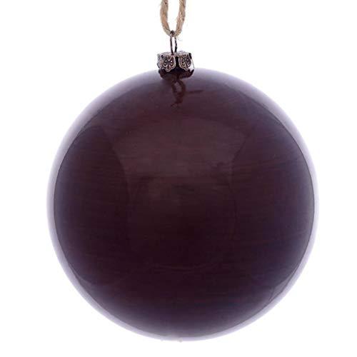 Vickerman 622223-6″ Plum Wood Grain Ball Christmas Tree Ornament (3 pack) (MC197226)