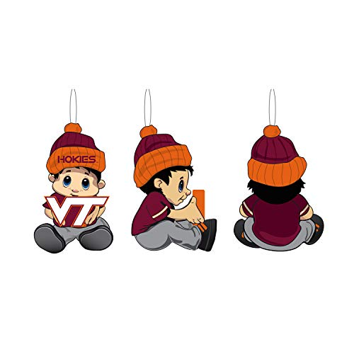 Team Sports America NCAA Virginia Tech Remarkable Adorable Lil Fan Christmas Ornament – 2″ Long x 2″ Wide x 3″ High