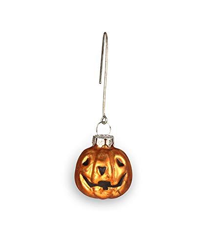 Bethany Lowe Halloween Jack O Lantern Pumpkin Mercury Glass Style 1.25 inch Mini Ornament