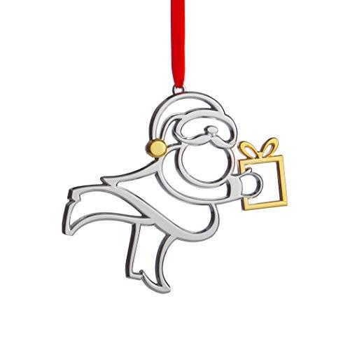 Nambe Holiday Santa Christmas Ornament