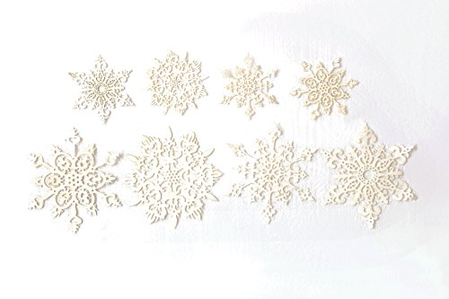 Creative Co-op Silent Night Set of 16 5.75″ Round Paper Snow- Flakes, White, 16 Piece