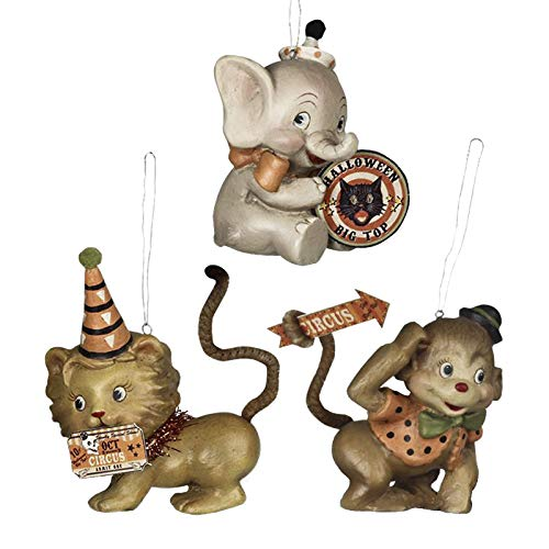 Halloween Big Top Animal Ornament, Set of 3