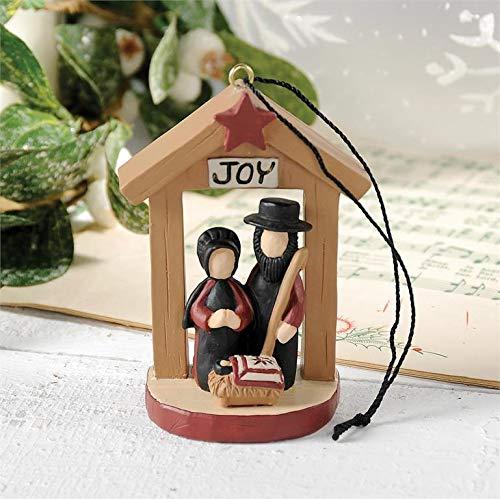 Blossom Bucket Joy Amish Nativity Ornament