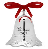 Towle 2019 Silver-Plate Musical Bell Ornament-39th Edition, Plays Chestnuts Roasting Holiday Ornament, Metal