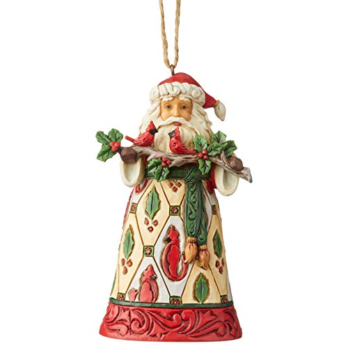 Enesco Jim Shore Heartwood Creek Santa W/Cardinals HO