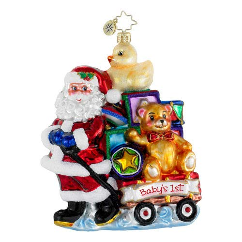 Christopher Radko Showered with Toys Baby's First Christmas Ornament