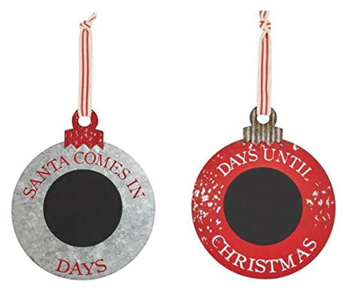 Mud Pie Countdown Christmas Chalkboard Ornament Set