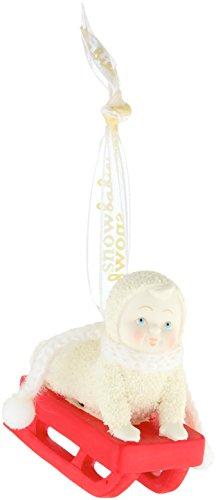 "Department 56 Snowbabies ""Personalizable Red Sled"" Porcelain Ornament, 2.48″"