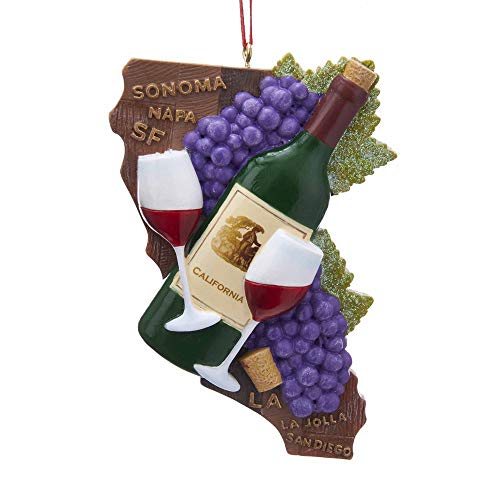 Kurt Adler California State Wine Ornament