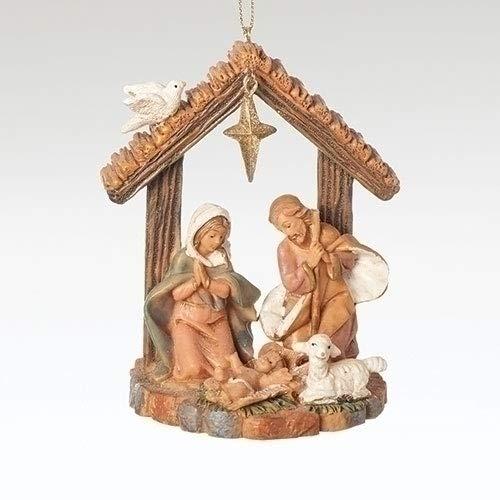 Roman – Fontanini – 3.5″ Holy Family Stable Ornament