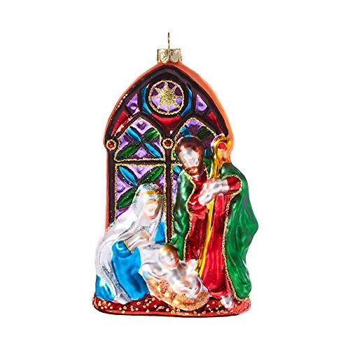 RAZ Imports Glass Nativity Christmas Ornament – 5 inch x 3 inch x 1.5 inch