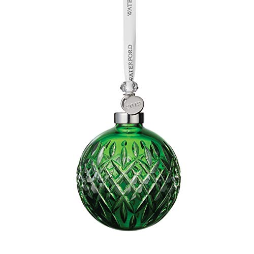 Waterford Crystal Emerald Ball Ornament 3.2″