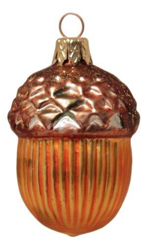 Pinnacle Peak Trading Company Acorn Polish Glass Christmas Tree Ornament Made in Poland Decoration New