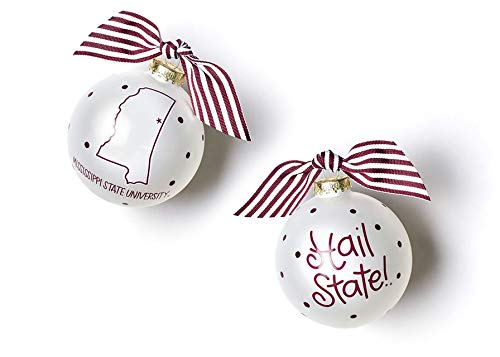 Coton Colors Mississippi State Glass Ornament – State