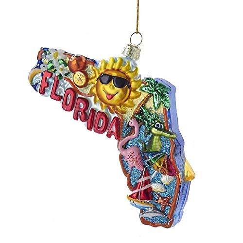 Kurt Adler Kurt S. Adler 5″ Double-Sided Florida Cityscape Glass Ornament