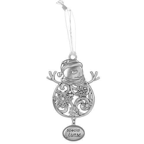 Special Nurse Snowman Ornament