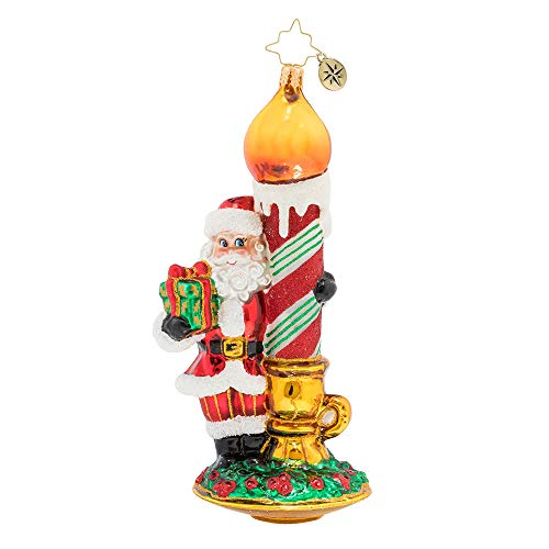 Christopher Radko Light Your Holiday Christmas Ornament, Red, White, Green, Gold